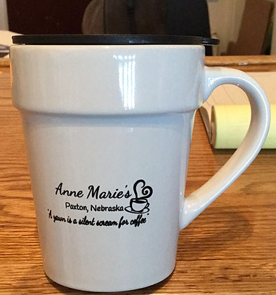 Anne Marie's small mug w/ lid