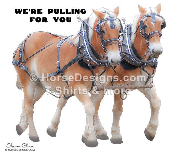 Belgian Draft Horse Team Gift