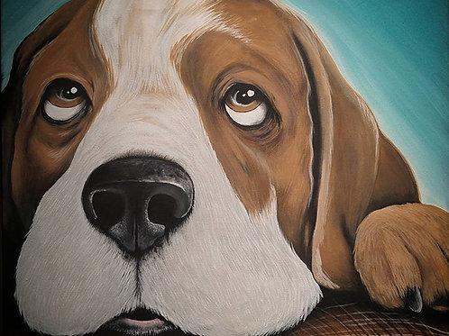 Beagle Note Card