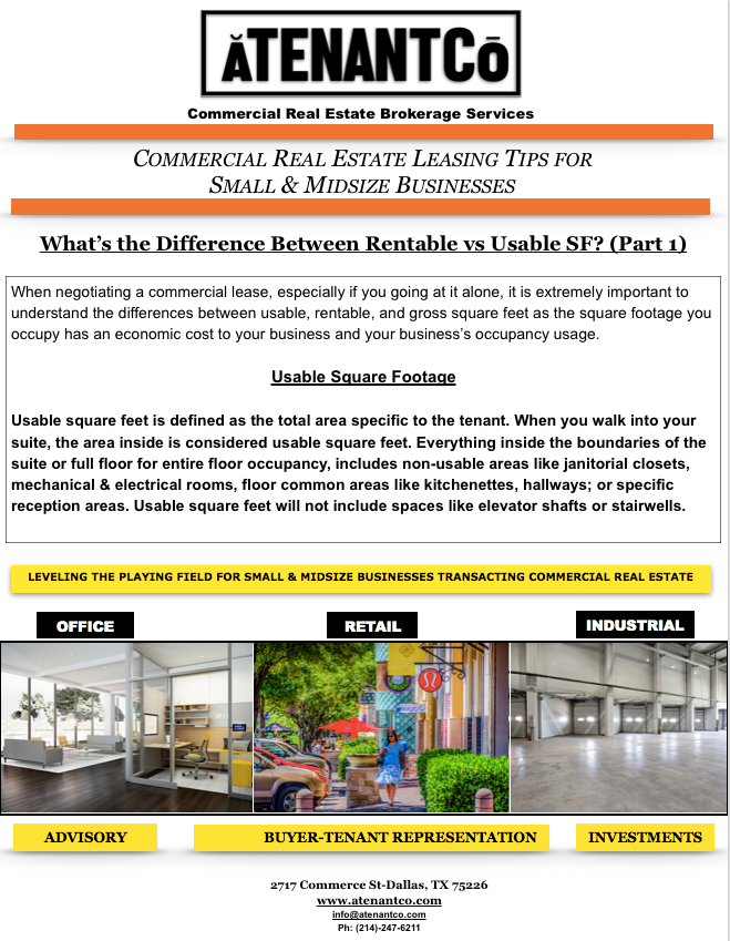 ATENANTCo Commercial Real Estate Leasing Tips-Dallas, TX