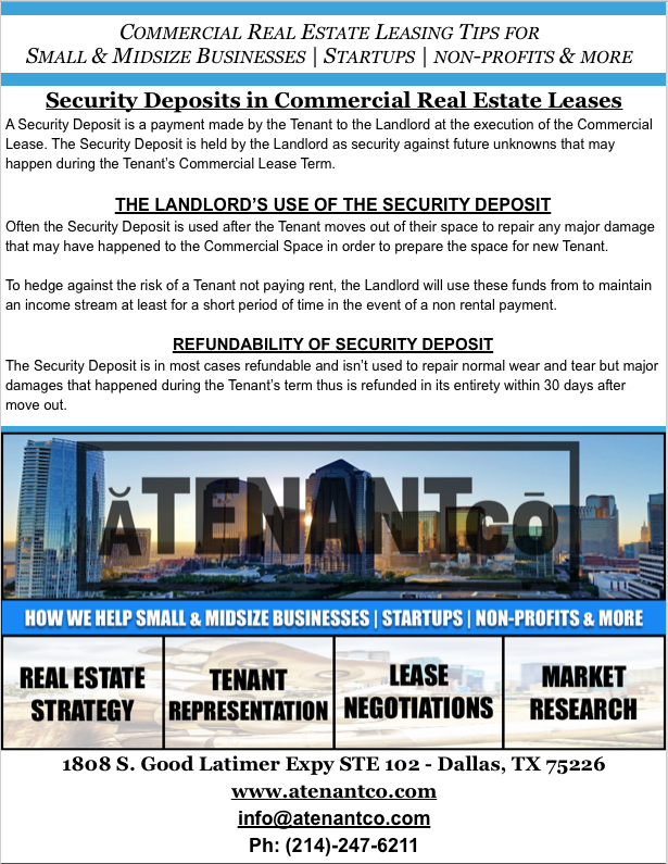 Tenant Representation - ATENANTco Commercial Real Estate - Leasing Commercial Real Estate - Non Profits- Startups - Franchisee -Small Business Owners - Medium Sized Business Owners