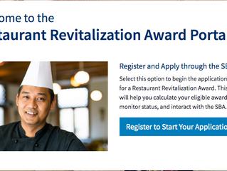 Restaurant Revitalization Fund Portal Now Open