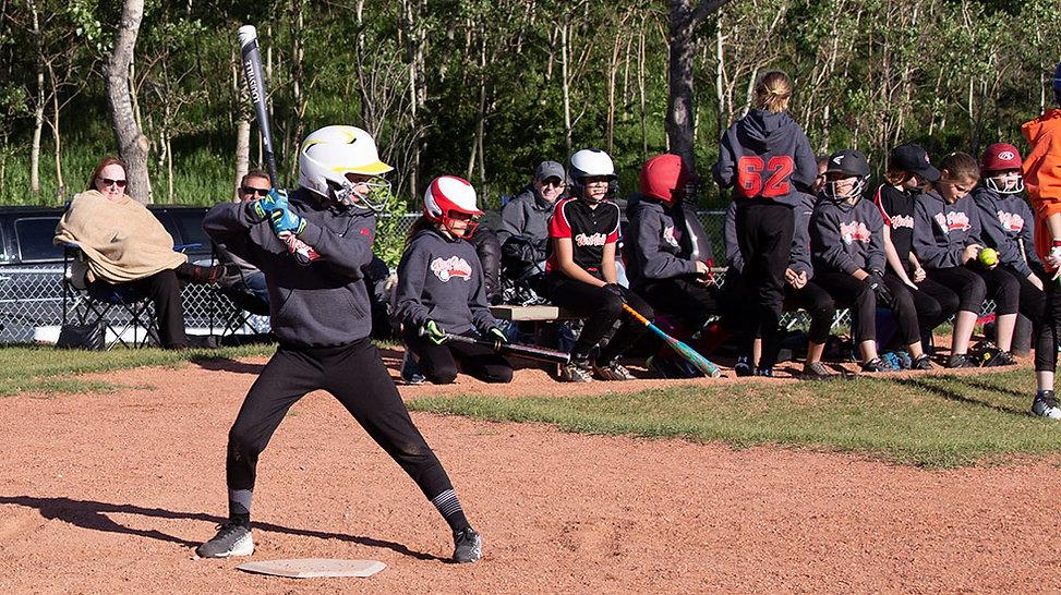 U12 West Valley softball batter