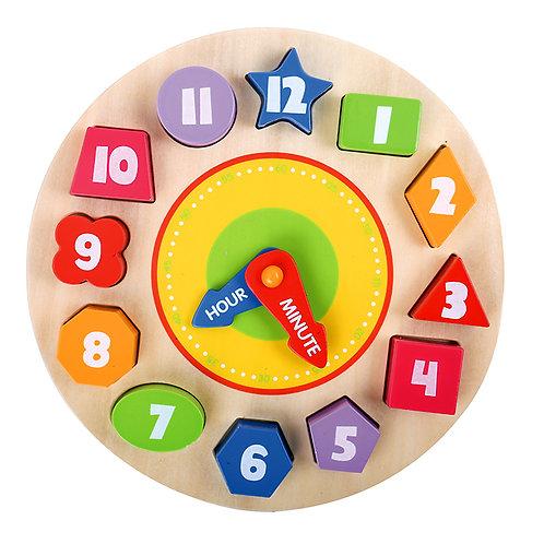 Puzzle De Encastre diseño De Reloj