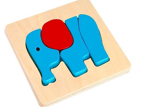 Puzzle diseño de Elefante