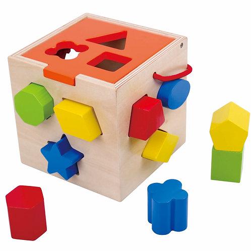 Cubo De Encastre Didáctico De Madera
