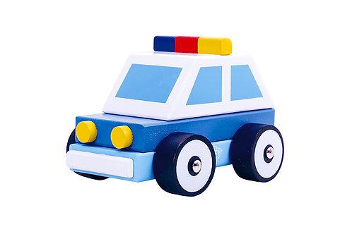 Auto de Policía arrastre y encastre
