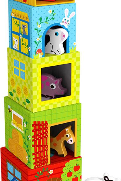 Torre de apilacion animales de la granja