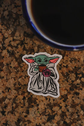 Cafecito Yoda Sticker