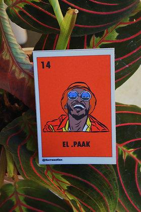 El .Paak Lotería Sticker