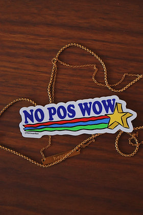 No pos wow Sticker