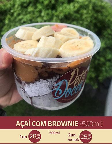 Açaí com brownie (500ml)