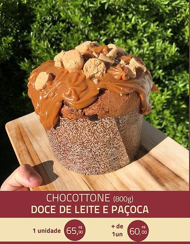 Chocotone de Doce de Leite com Paçoca