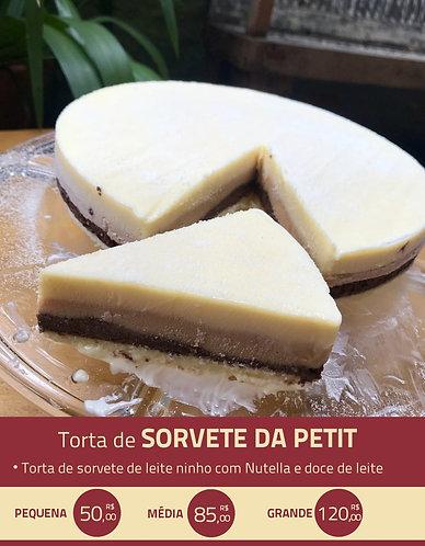 Torta de Sorvete de Leite Ninho com Nutella