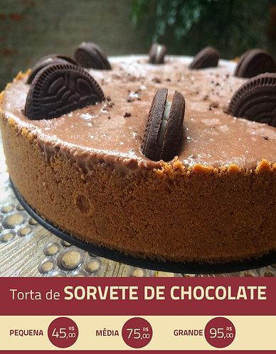 Torta de Sorvete de Chocolate