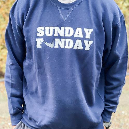 Unisex Navy Sunday Funday Crew Neck