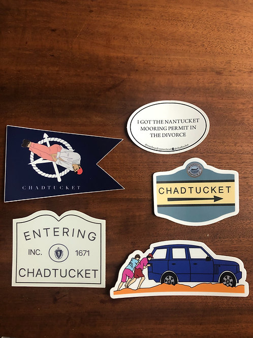 5 stickers (1 of each)