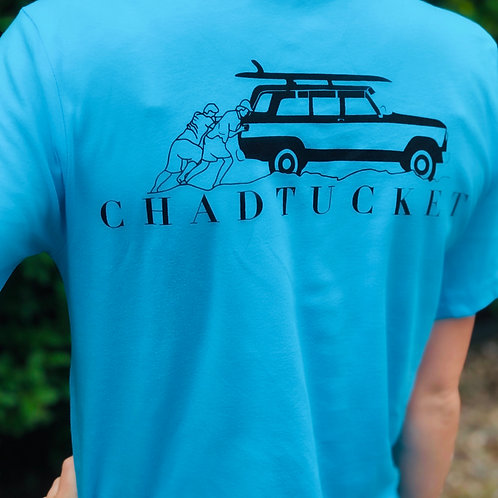 Blue Chadtucket ACK surf tee