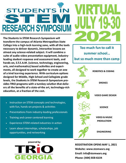 Students in STEM Research Symposium flye