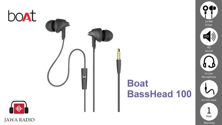 Boat Basshead 100 in-Ear Wired Earphones with Mic