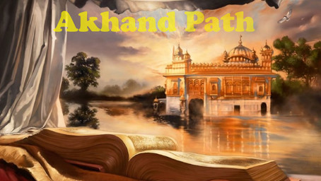 Akhand Path as a Holy journey for the devotees