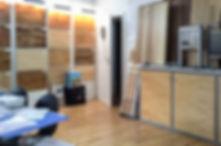 Ausstellungsraum / Showroom mit Musterelementen