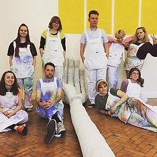 Spot the fine art students ✌️