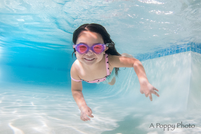Underwater Mini Session at Splash Swim School- San Ramon