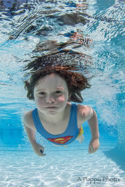 underwater image of girl swimming