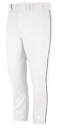 Majestic White/Black Baseball Pants - Youth