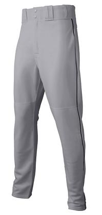 Majestic Grey/Black Baseball Pants - Adult