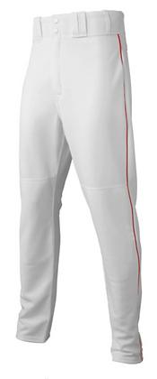 Majestic White/Red Baseball Pants - Adult