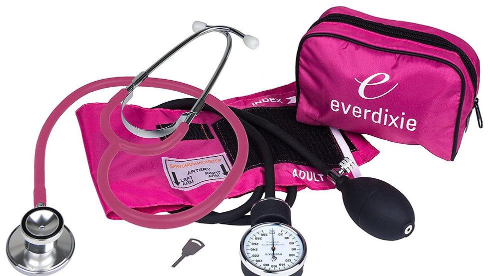 Kit Tensiómetro y estetoscopio rosado