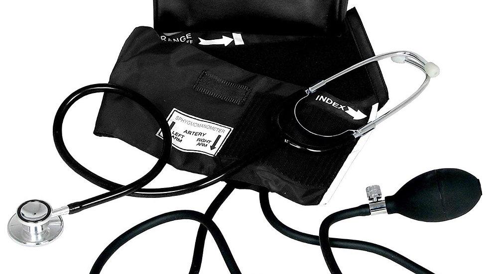 Kit Tensiómetro y estetoscopio negro
