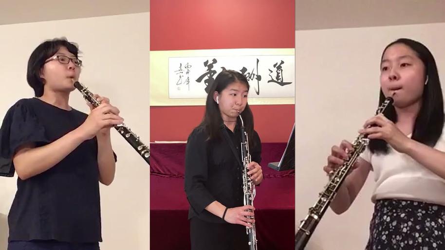 Pulcinella Overture for oboe trio
