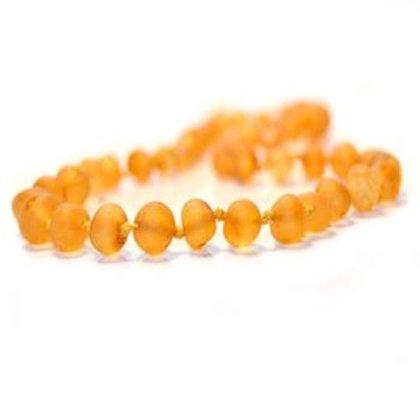 Amber Teething Necklace, Baroque Unpolished Honey