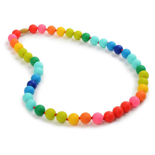 Chewbeads Bleecker Teething Necklace -Rainbow