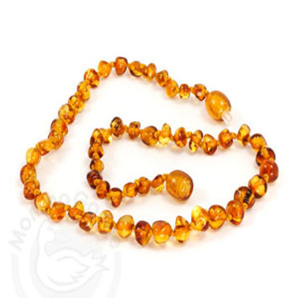 Amber Teething Necklace, Baroque Honey