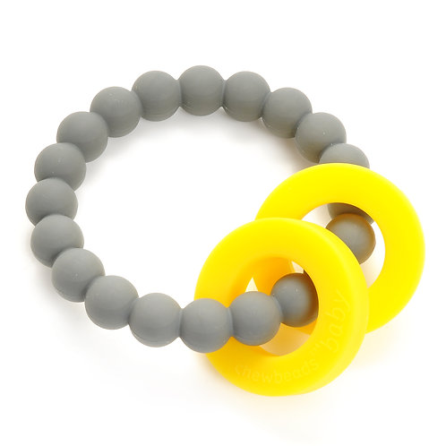 Chewbeads Baby Mulberry Teether - Grey