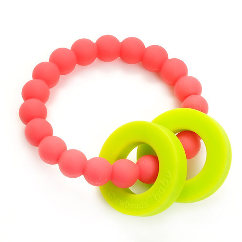 Chewbeads Baby Mulberry Teether - Punchy Pink