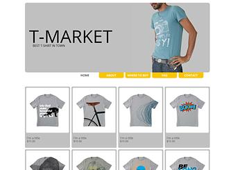 T-shirts Website Template | WIX