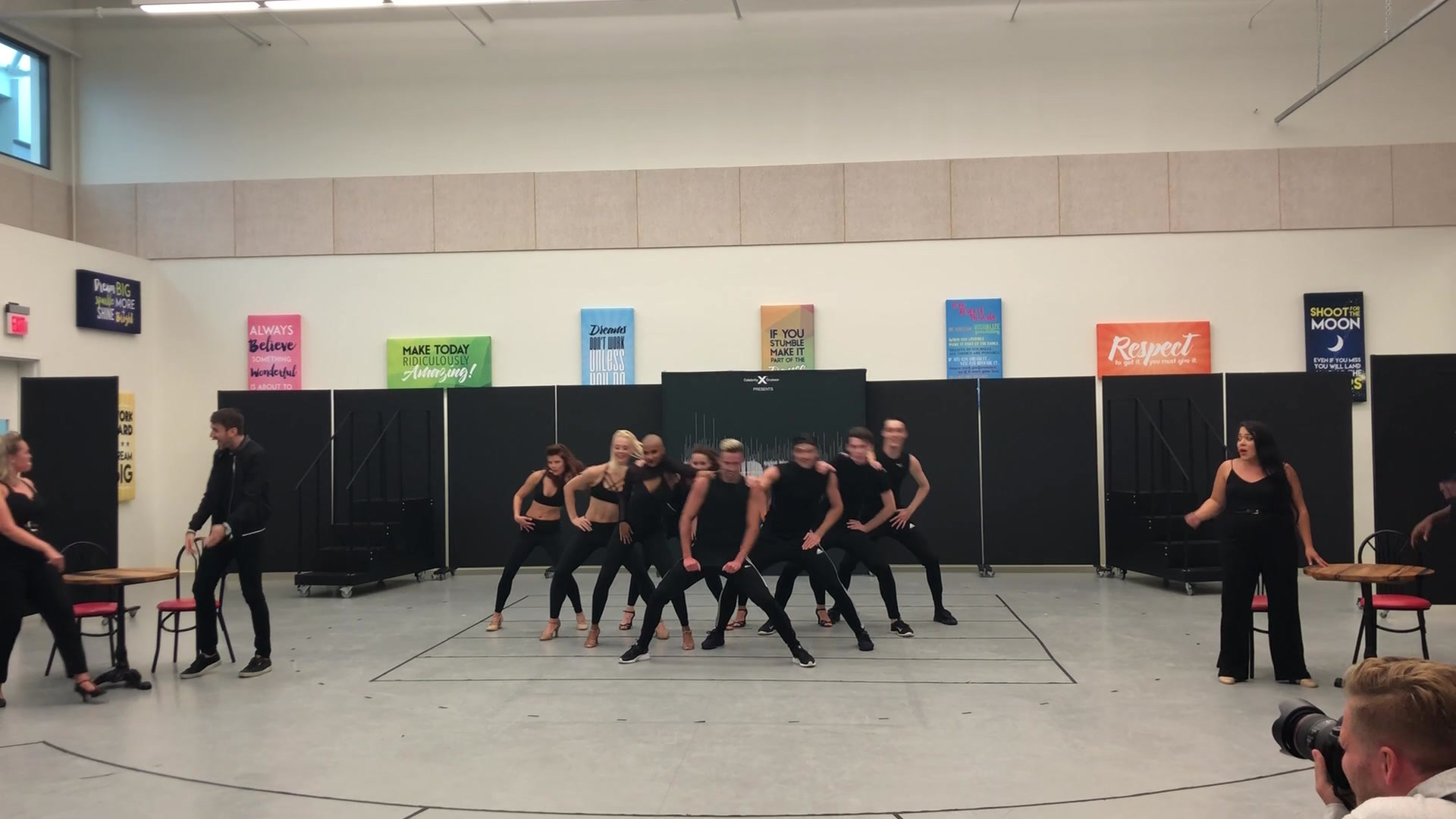 """""""Please Don't Stop The Music"""" rehearsal for Celebrity Cruises"""