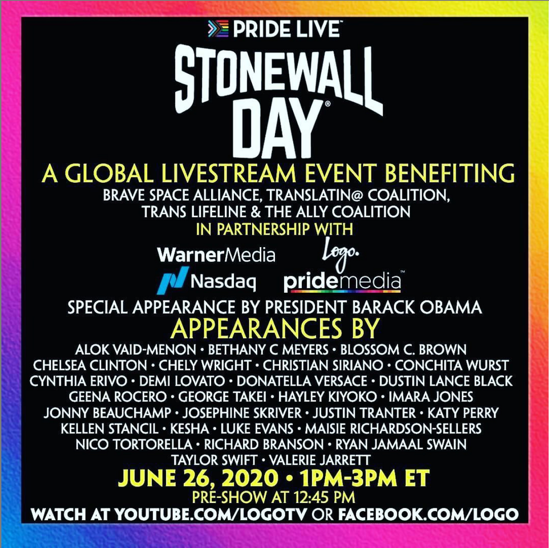 TRANSCEND for Pride Live - Stonewall Day