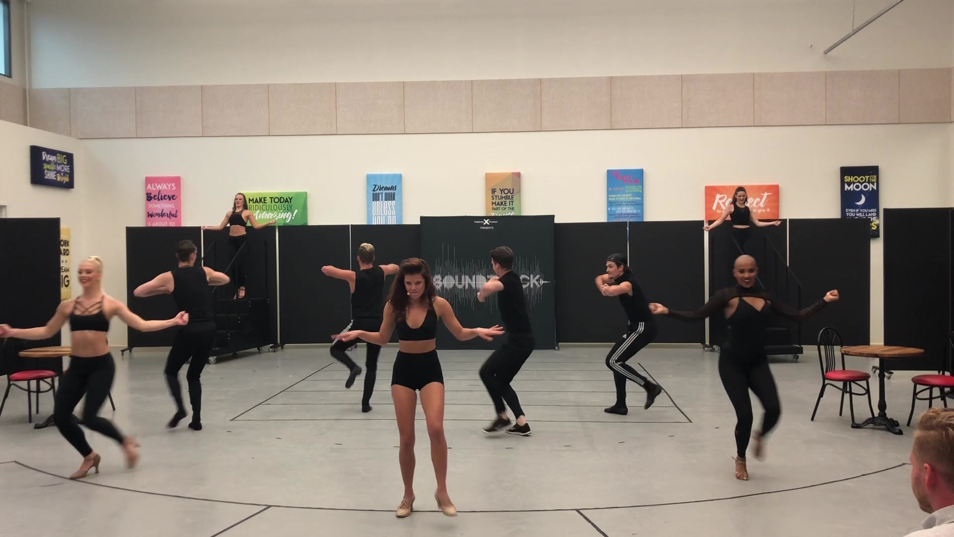 """Diamonds"" rehearsal for Celebrity Cruises"