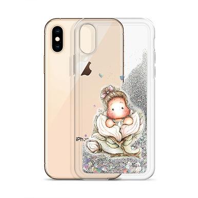 Magnolia Tilda Liquid Glitter Phone Case