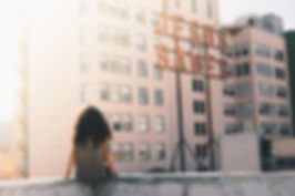 Girl in a City