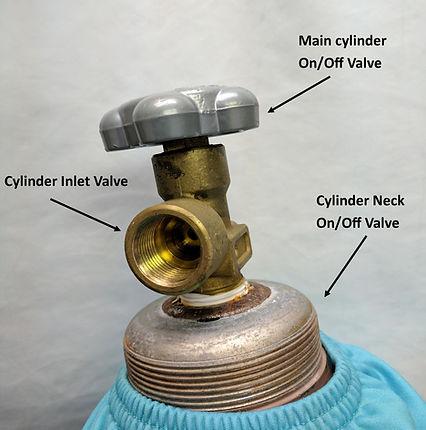 HELIUM tank neck