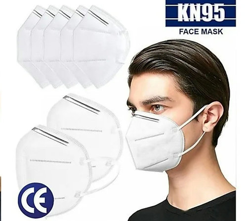 Tapabocas de proteccion KN95. Caja x 10 unds