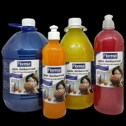 Jabón líquido antibacterial 230cc y 500cc