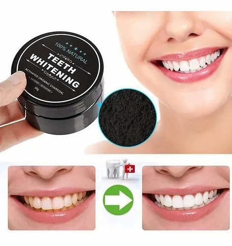 Carbón Activado De Coco Teeth Whitening Con Cepillo